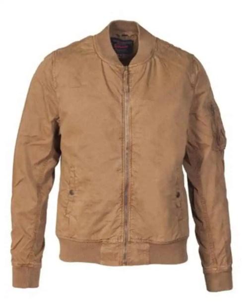 Schott NYC 8827 cotton flight jacket in Khaki
