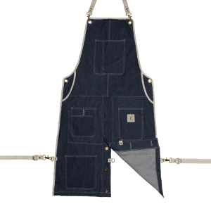 Knife and Flag Denim Split-Leg Apron