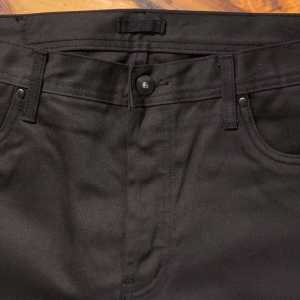 Unbranded UB655 relaxed tapered 12.5 oz black selvedge chino
