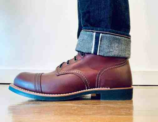Red Wing Heritage Iron Ranger 8119 Oxblood Lace Up Boots. Made in the USA.