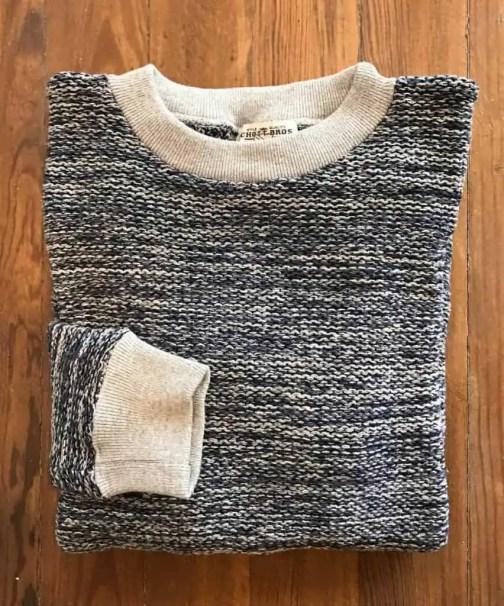 Schott NYC PF06 crewneck sweater in Indigo.