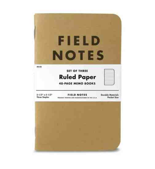 Field Notes Kraft 3-pack Ruled Paper