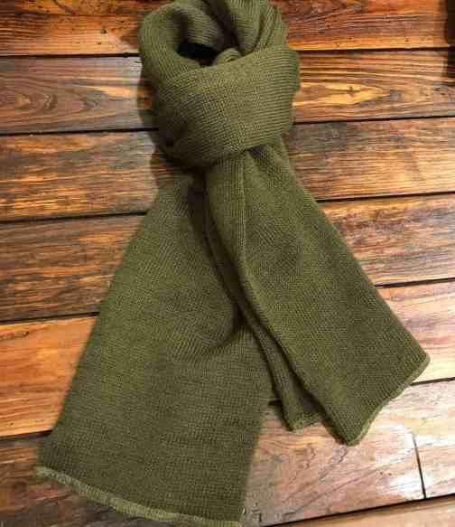 Rothco wool GI scarf in olive drab.