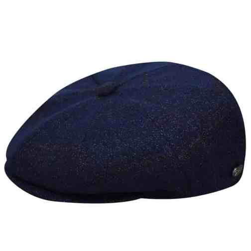Galvin Newsboy Cap by Bailey of Hollywood in Subtle Plaid Cadet.