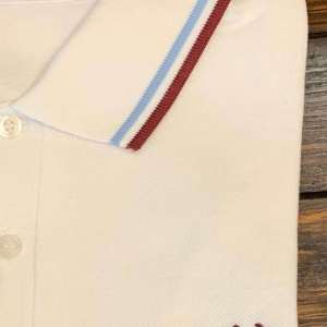 Fred Perry M12 Shirt White/Ice/Maroon