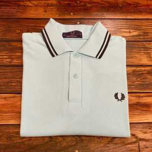 Fred Perry M12 Shirt Teal Green/Black/Black