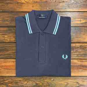 Fred Perry M12 Shirt Navy/Ice/Ice