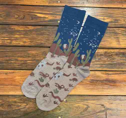 The Ampal Creative Midnight Desert Cotton Blend Socks