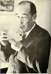 C.S. Lewis with a pipe