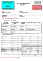 CSLG B FEUILLE ADHESION 2018 – 2019