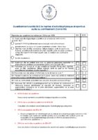 Questionnaire reprise APS post confinement