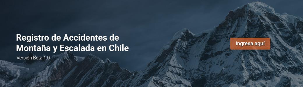 Registro de Accidentes de Montaña y Escalada en Chile