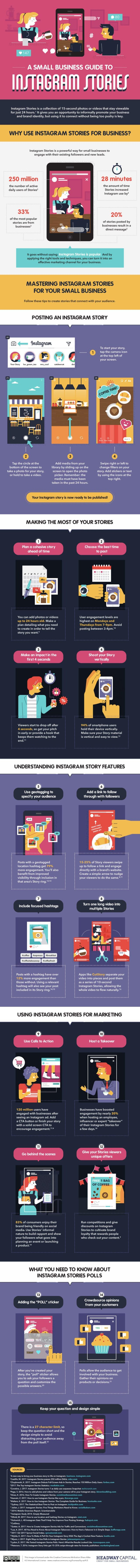 A Beginners Guide to Instagram Stories for Business Infographic