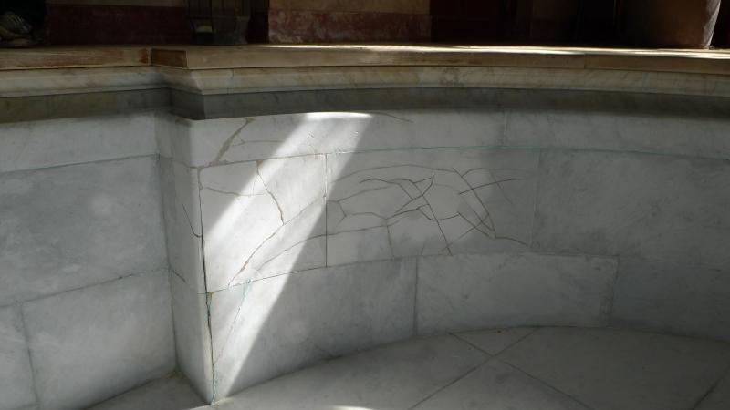 white carrara marble swimming pool