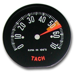 1959 Low RPM Tachometer Face
