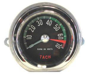 1960early Corvette Tachometer Face – Low RPM – New