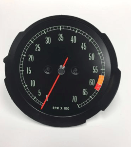 1965 1966 1967 Corvette Tachometer Assembly Mid RPM 6000 Redline GM #6412522