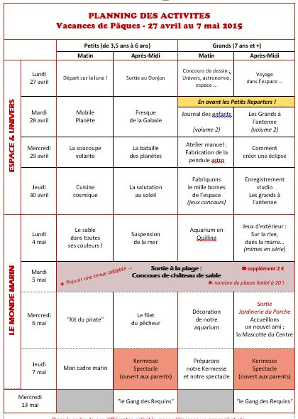 PlanningPaques