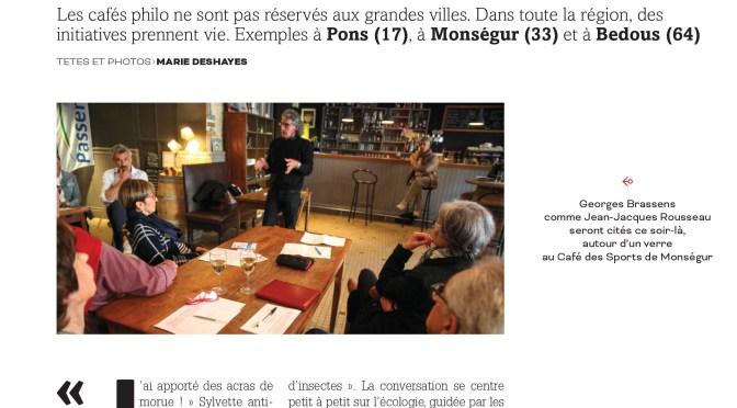 La notoriété du café philo de Pons …