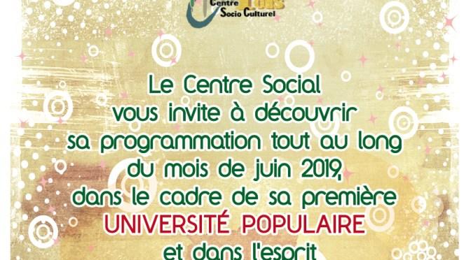 Université Populaire du Centre Socioculturel…