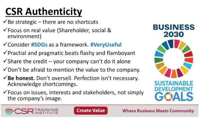 CSR Authenticity