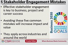 Top 5 common mistakes in stakeholder engagement