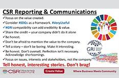 CSR Communications: Keep it Simple, Stupid