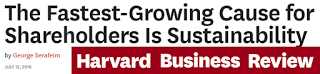 The fastest growing cause for Shareholders is sustainability