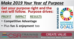 MAKE 2019 YOUR YEAR OF PURPOSE