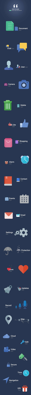 IMPICONS - Modern Flat style Free Icon Set - cssauthor.com