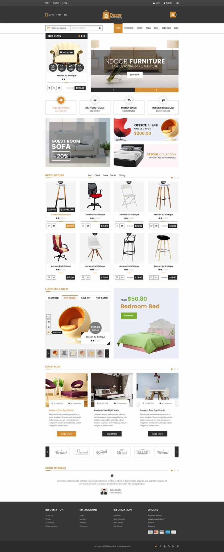 Bazar E Commerce Web Template PSD