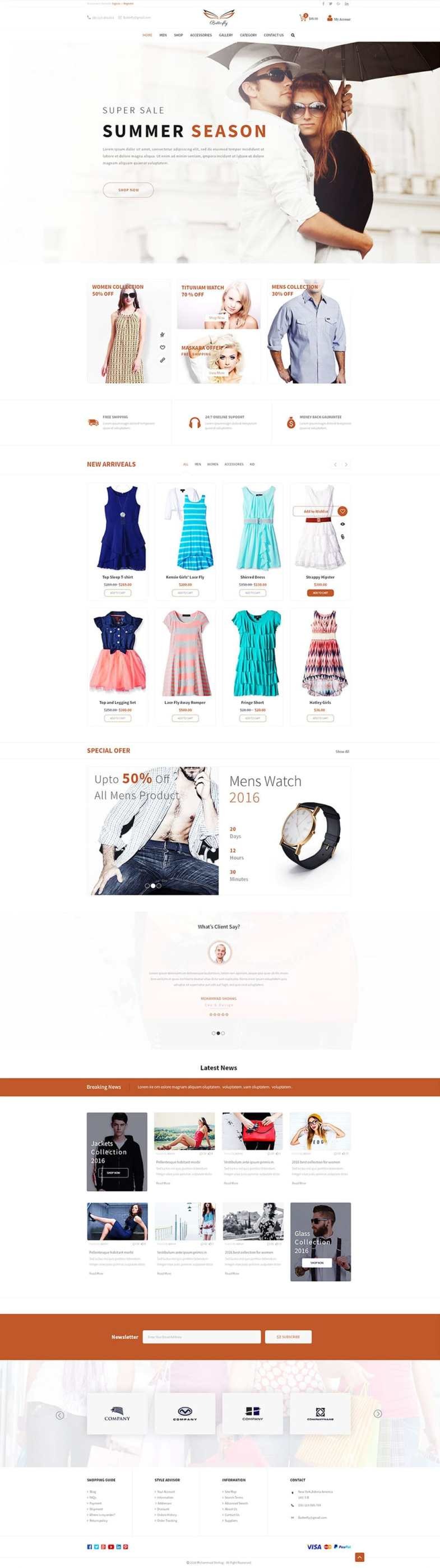 Free Fashion E commerce Template PSD Бесплатные шаблоны для интернет-магазина psd - Free Fashion E commerce Template PSD - Бесплатные шаблоны для интернет-магазина PSD