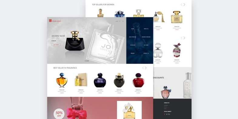 Perfume Online Store Template PSD Бесплатные шаблоны для интернет-магазина psd - Perfume Online Store Template PSD 2 - Бесплатные шаблоны для интернет-магазина PSD