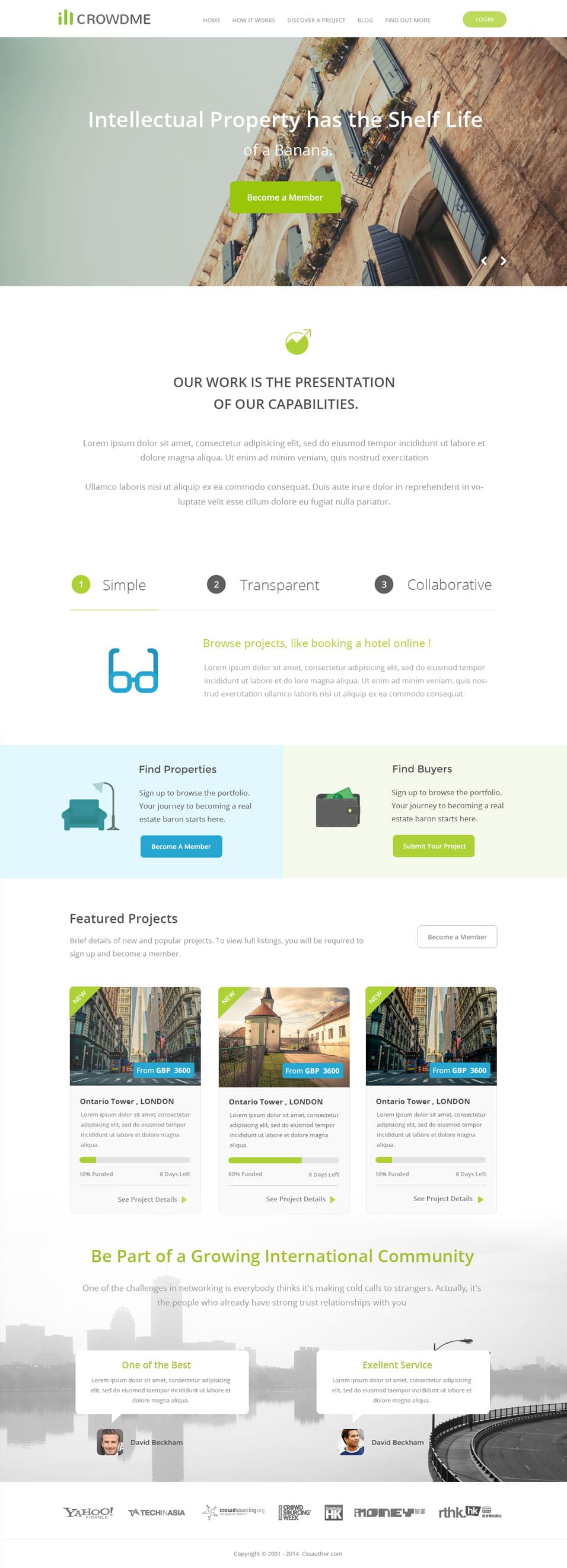 icrowdme PSD Website Template