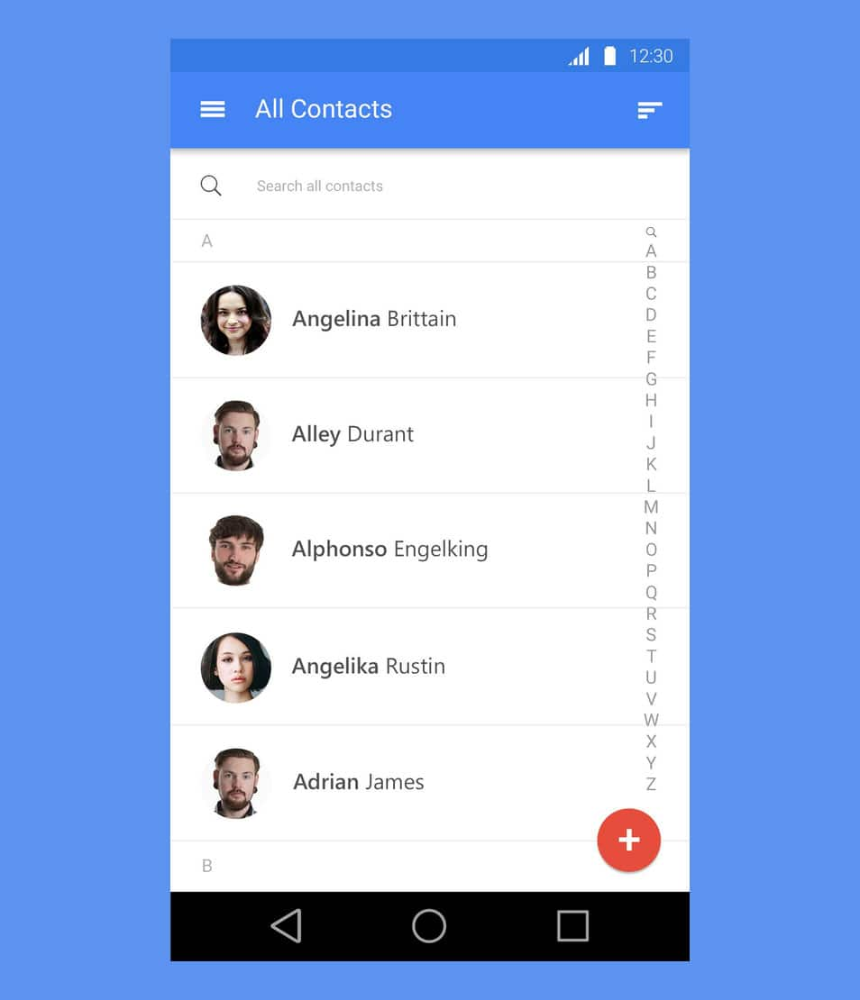 Android Material Design Free PSD