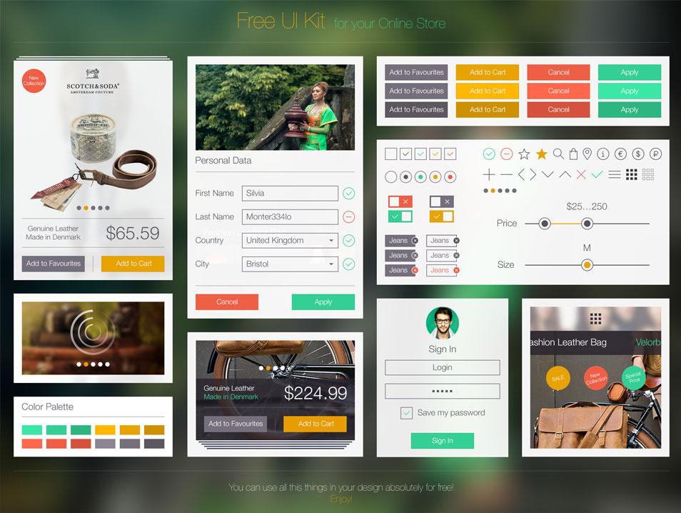 Free UI Kit Ramotion PSD