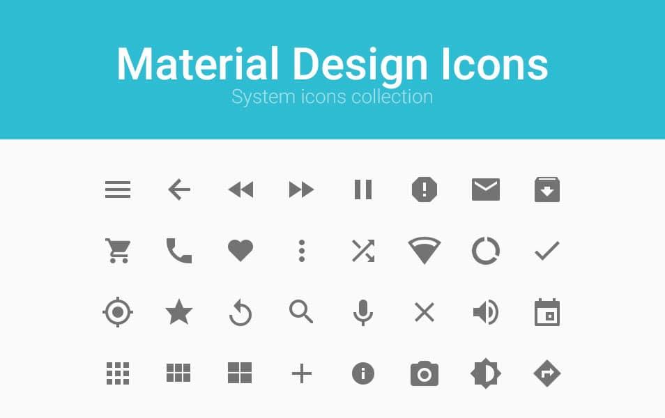 Material Design Icon Set PSD