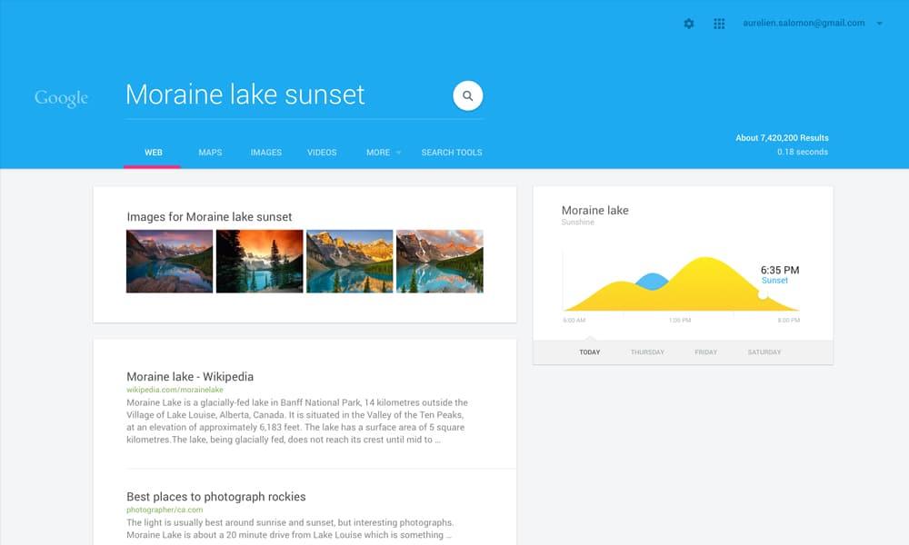 Google Search Material Design Concept