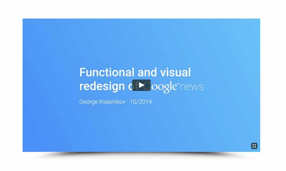 Redesign Concept of Google News