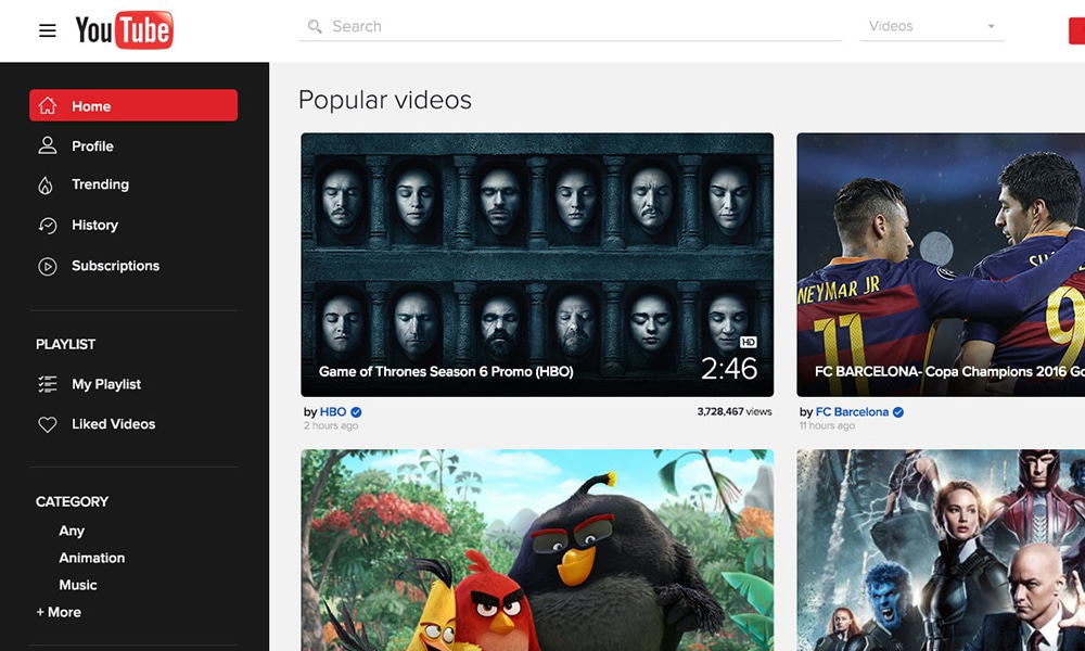YouTube-Redesign-Concept