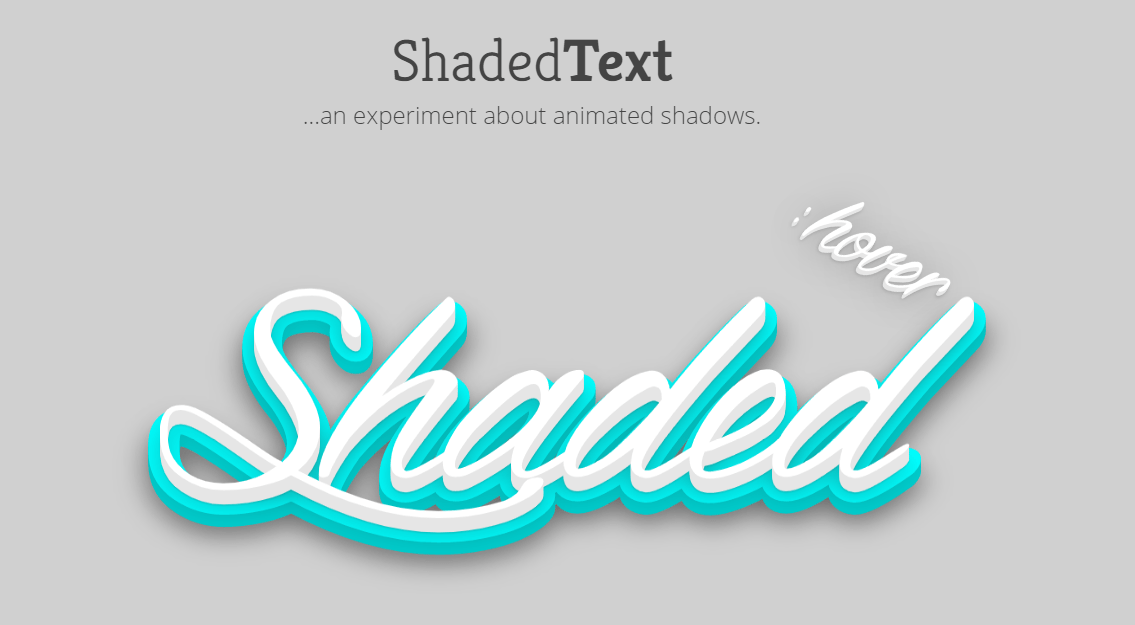 3D Shaded Text with CSS3 Animated Shadows