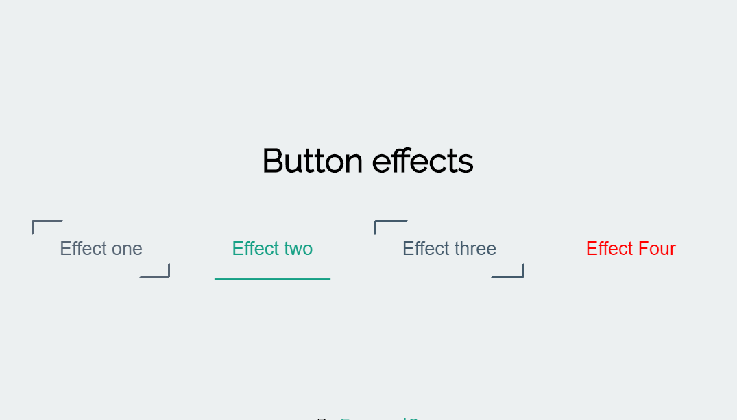 Awesome HTML CSS Buttons Hover Effects
