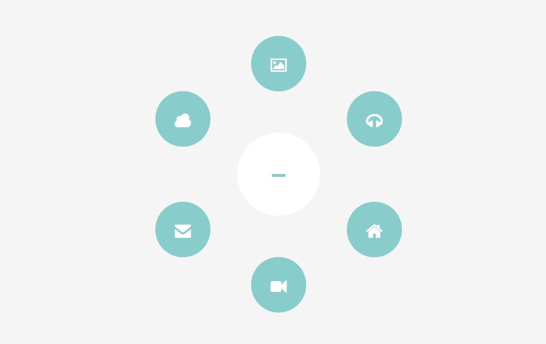 Circle Hide Show Navigation Menu Item with CSS