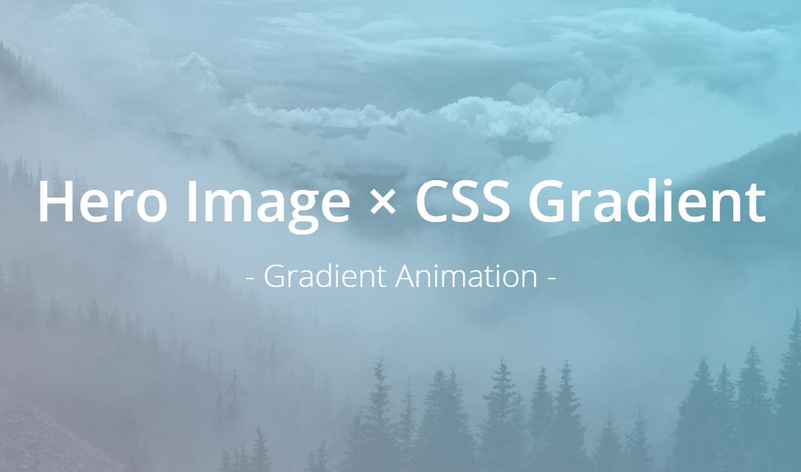 Combine CSS Hero Image And Gradient On Website Header