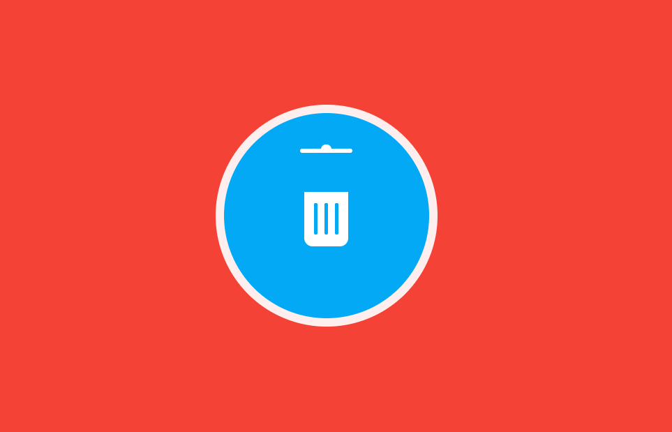 CSS Delete Trash Icon Button With Micro-Interactions