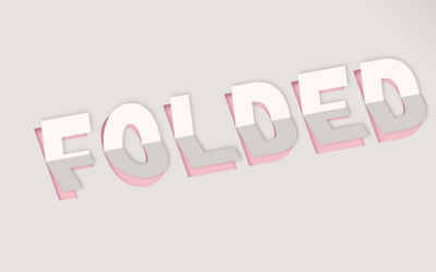 CSS Only 3D Paper Folding Text Effect Design