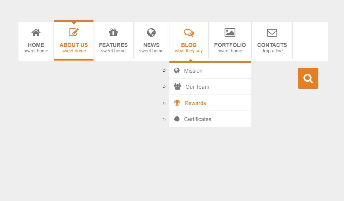 CSS3 Horizontal Mega Dropdown Menu With Icon And Animation