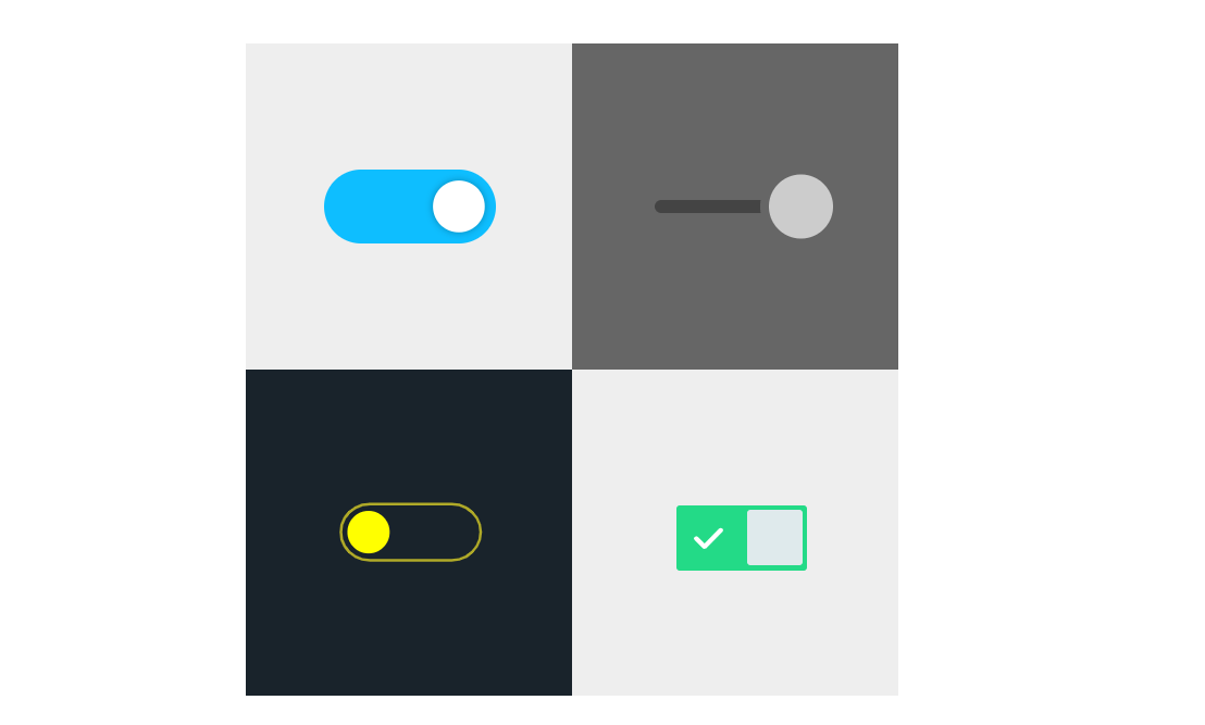 Custom Checkbox Toggle Switches with SVG, HTML and CSS