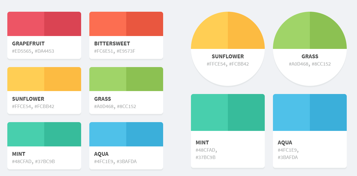 Flattastic Pro Color Palette with HTML And CSS