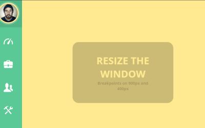 Fully Responsive Sidebar CSS3 Menu Code Snippet